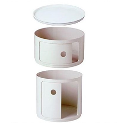 KARTELL round bedside COMPONIBILI WHITE