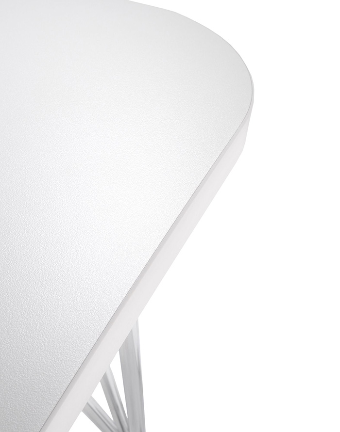 Kartell Table Sur Roulettes Max L 160 Cm Blanc Zinc Pleateau