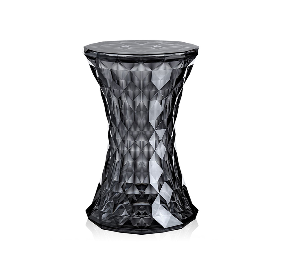 kartell tabouret stone fum transparent ou color dans la masse en polycarbonate. Black Bedroom Furniture Sets. Home Design Ideas