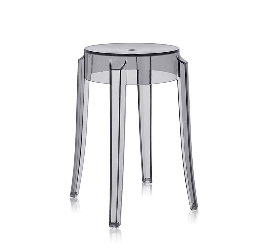 kartell tabouret charles ghost hauteur 46 cm fum. Black Bedroom Furniture Sets. Home Design Ideas