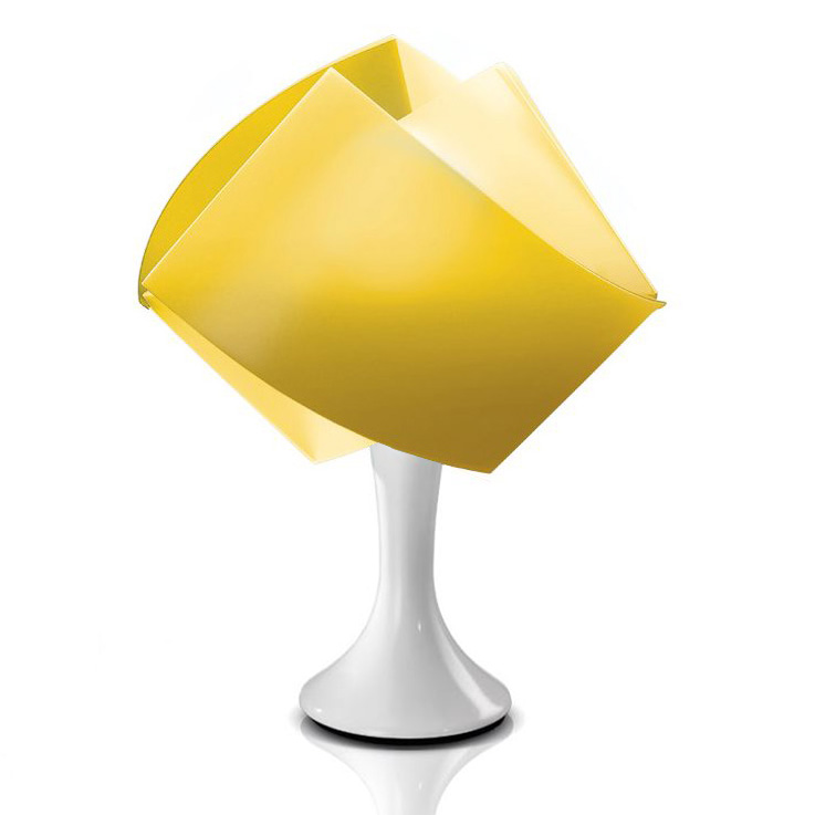 slamp lampe de table gemmy table jaune opalflex. Black Bedroom Furniture Sets. Home Design Ideas