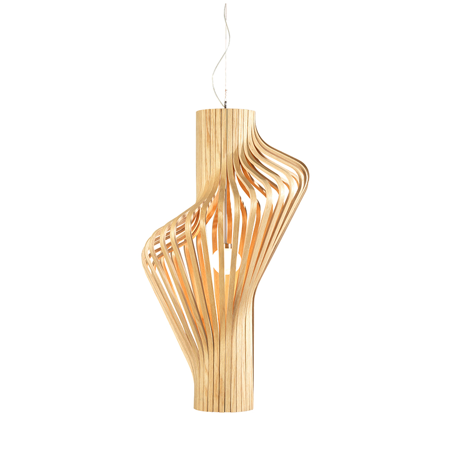Northern lighting lampe suspension diva ch ne bois for Lampe suspension bois