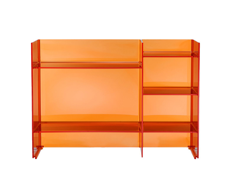 kartell by laufen meuble de bain sound rack orange tangerine pmma transparent. Black Bedroom Furniture Sets. Home Design Ideas