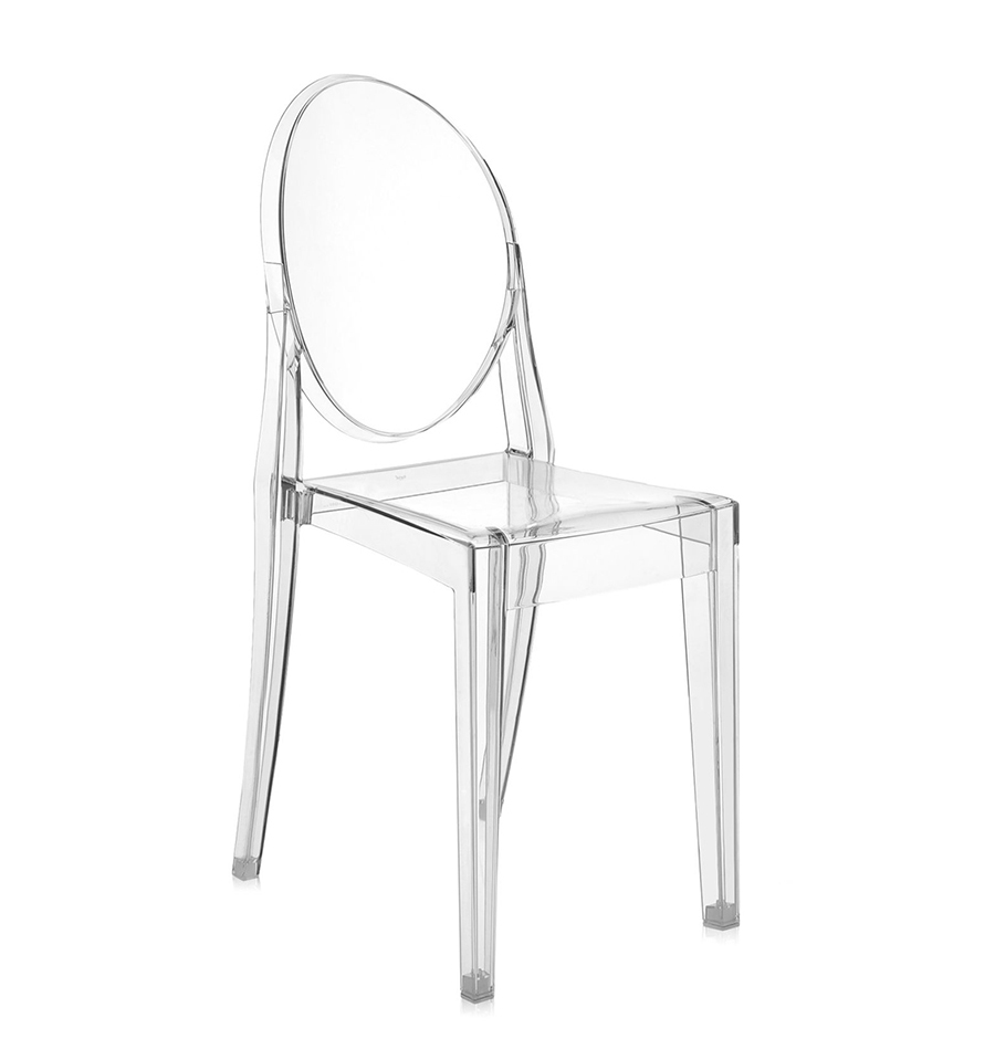 KARTELL chaise VICTORIA GHOST (Cristal - Polycarbonate transparent ...