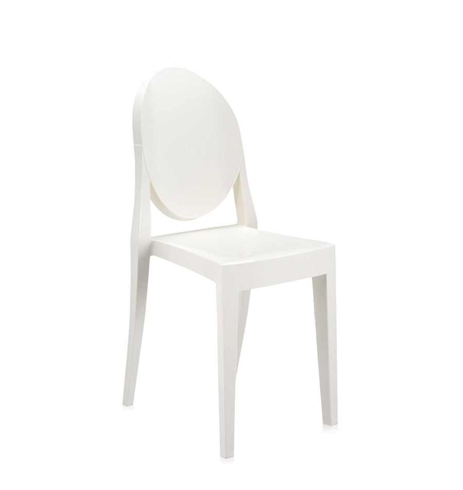 kartell chaise victoria ghost blanc polycarbonate color dans la masse. Black Bedroom Furniture Sets. Home Design Ideas