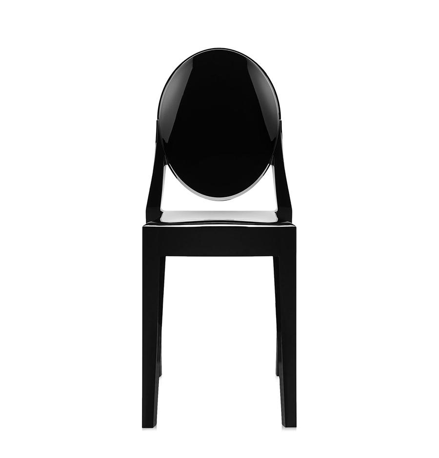 kartell chaise victoria ghost noir polycarbonate color dans la masse. Black Bedroom Furniture Sets. Home Design Ideas