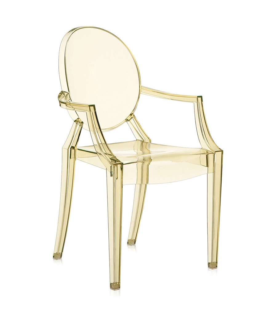 KARTELL chaise LOUIS GHOST (Jaune - Polycarbonate transparent ...