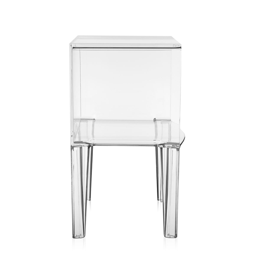 Kartell table de chevet small ghost buster cristal pmma Table de chevet kartell