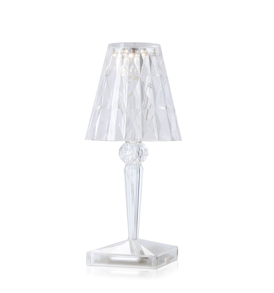 KARTELL table lamp BATTERY (Crystal - Transparent PMMA ...