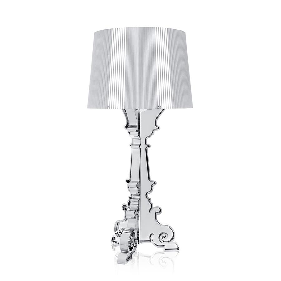 kartell lampe de table bourgie argent abs m tallis. Black Bedroom Furniture Sets. Home Design Ideas