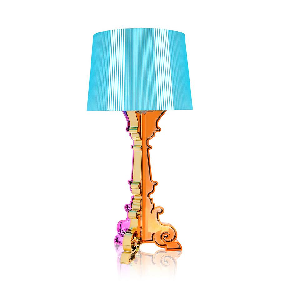 kartell lampe de table bourgie bleu abs m tallis. Black Bedroom Furniture Sets. Home Design Ideas