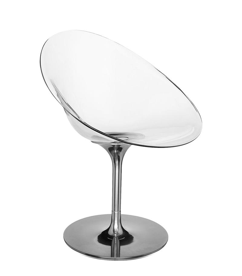 Chaise Transparente Starck: KARTELL Fauteuil EROS (Cristal