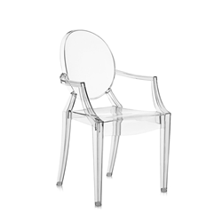 KARTELL chair for children LOU LOU GHOST