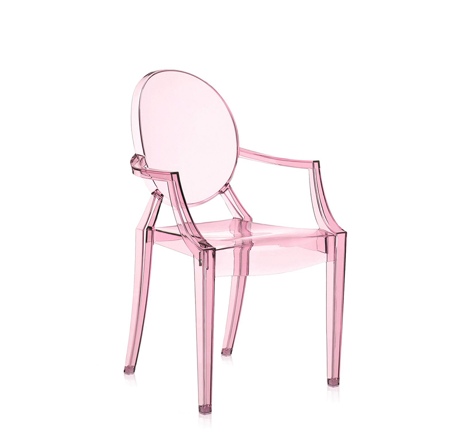 KARTELL chair for children LOU LOU GHOST (Pink - Transparent ...