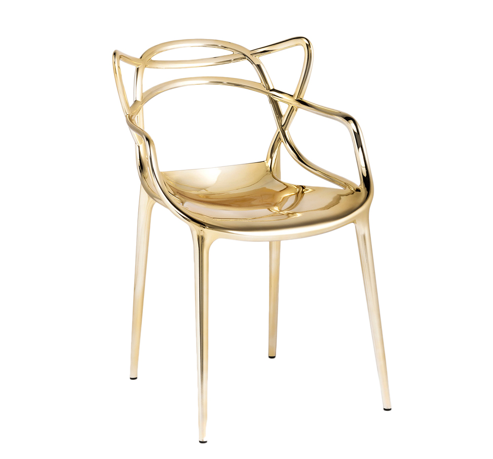 KARTELL set of 2 chairs MASTERS METAL PRECIOUS COLLECTION (Gold ...