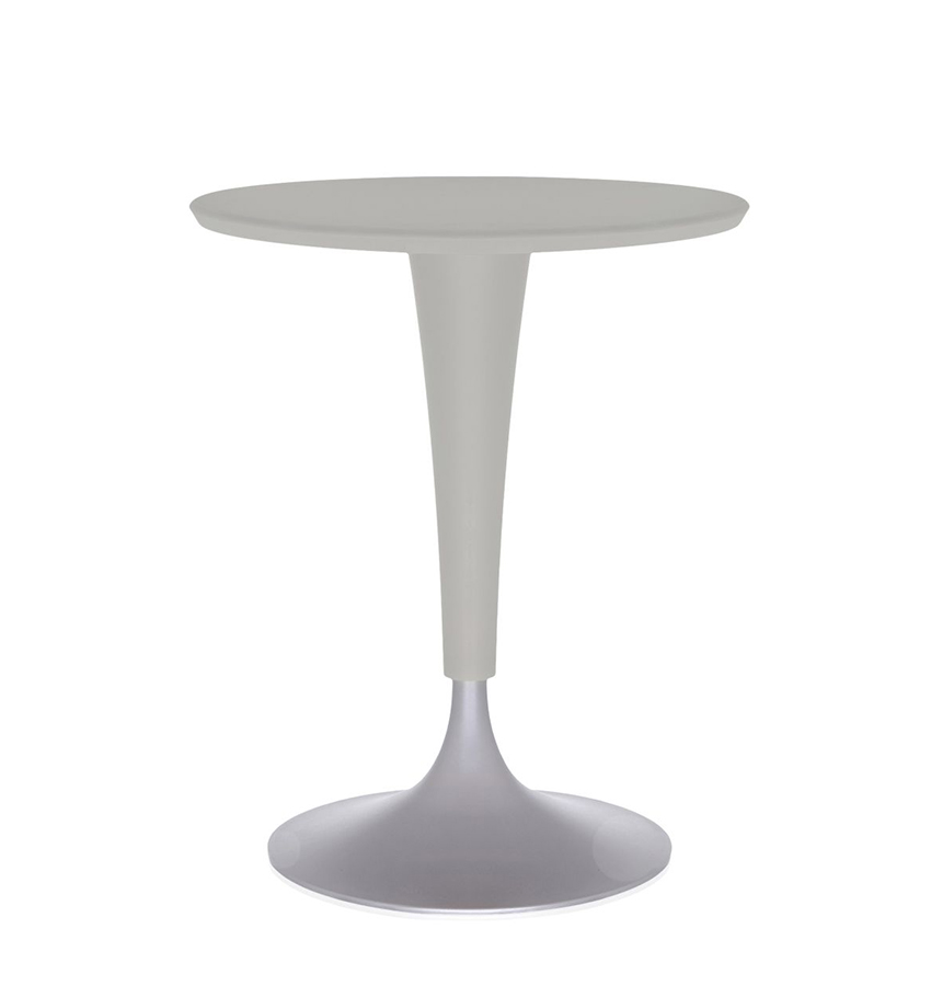 Kartell table dr na gris chaud plateau smc anti for Table exterieur kartell