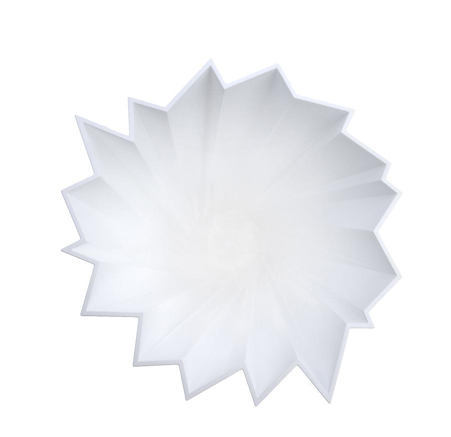 kartell vase shanghai blanc brillant teint dans la masse pmma. Black Bedroom Furniture Sets. Home Design Ideas