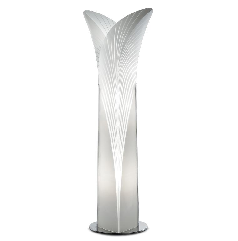 Slamp Floor Lamp Las Palmas Extra, Palm Floor Lamp Silver