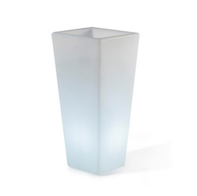 Slide vase lumineux y pot light h 90 cm poly thyl ne for Vase exterieur lumineux