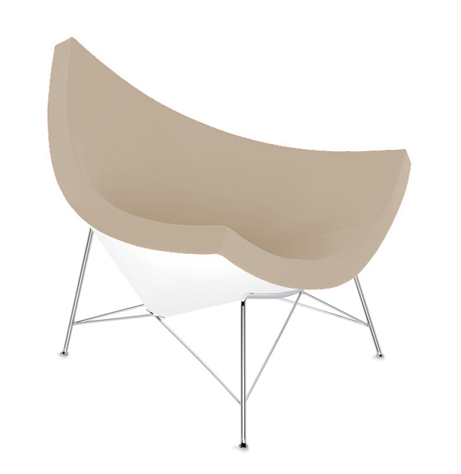 Vitra fauteuil coconut chair sable cuir for Fauteuil vitra prix