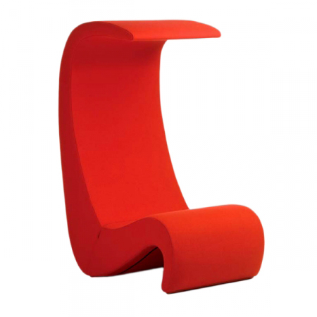 Vitra fauteuil amoebe highback rouge tonus for Fauteuil vitra prix