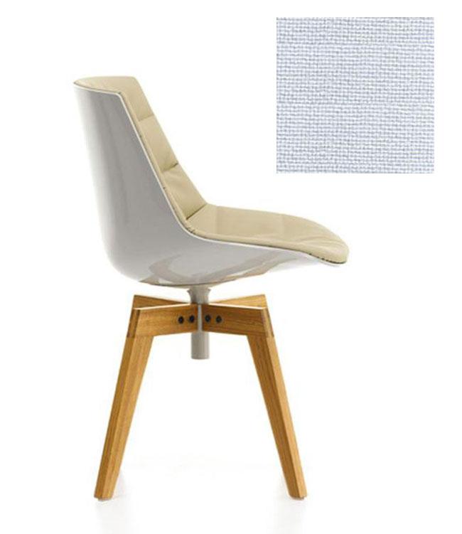 mdf italia chaise rembourr e avec pieds en rouvre flow chair blanc 122 polycarbonate. Black Bedroom Furniture Sets. Home Design Ideas