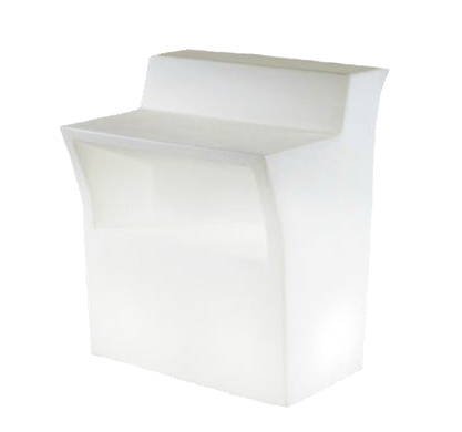 slide comptoir de bar lumineux jumbo bar blanc. Black Bedroom Furniture Sets. Home Design Ideas