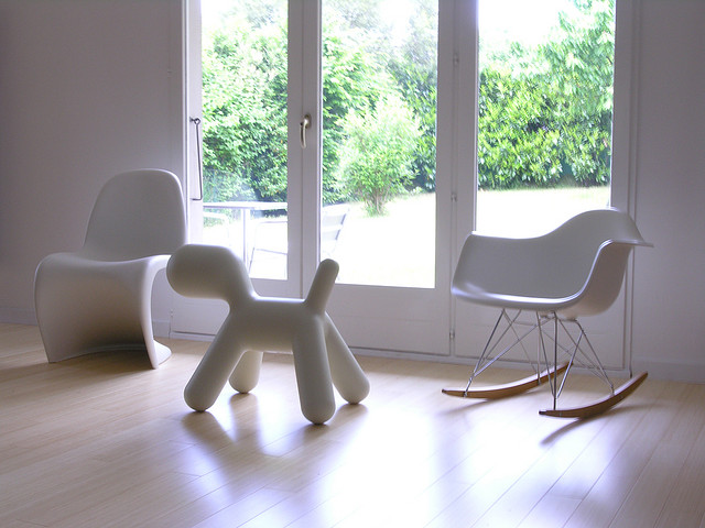 Sedia A Dondolo Rar Eames : Vitra rocking chair eames plastic armchair rar moss grey