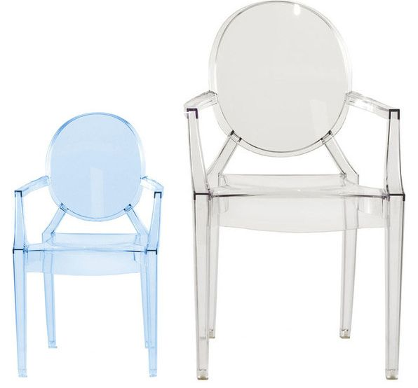 kartell chaise pour enfants lou lou ghost bleu polycarbonate transparent. Black Bedroom Furniture Sets. Home Design Ideas