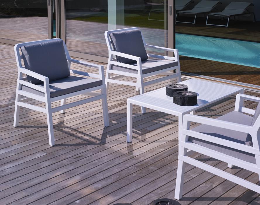 nardi table basse d 39 exterieur aria garden collection rouge polypropyl ne. Black Bedroom Furniture Sets. Home Design Ideas