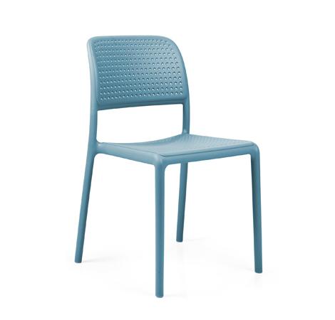 nardi set de 4 chaises bora bistrot d 39 exterieur contract collection bleu clair polypropyl ne. Black Bedroom Furniture Sets. Home Design Ideas