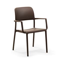 NARDI set de 4 chaises avec accoudoirs RIVA d'exterieur CONTRACT COLLECTION