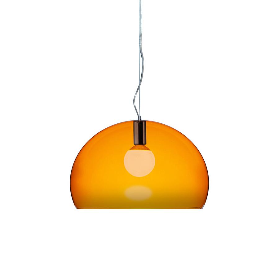 kartell lampe suspension fl y fly orange pmma transparent. Black Bedroom Furniture Sets. Home Design Ideas