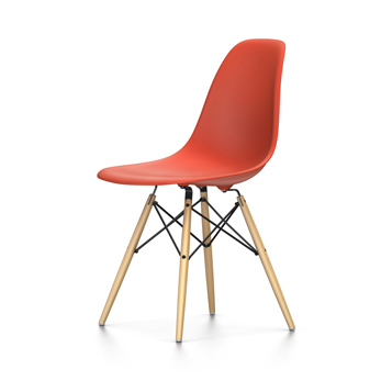VITRA Eames Plastic Side Chair DSW NEW DIMENSIONS (Red Poppy ...