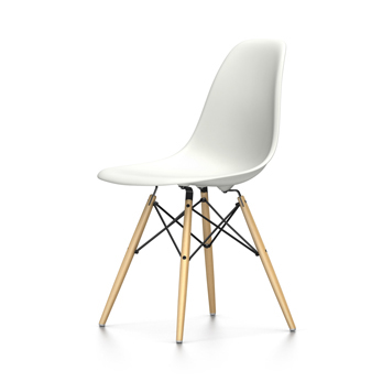 Vitra Eames Plastic Side Chair Dsw New Dimensions White