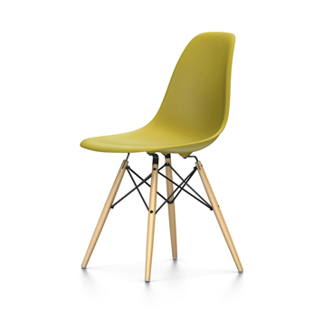Sedie Vitra Eames.Vitra Eames Plastic Side Chair Dsw New Dimensions Mustard Polypropylene And Yellow Maple Wood