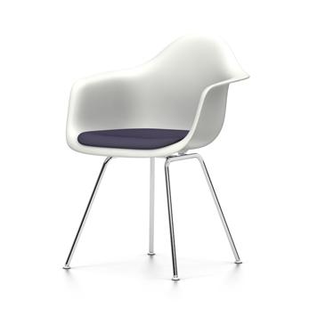 vitra chaise fauteuil avec coussin eames plastic armchair dax nouvelles dimensions blanc. Black Bedroom Furniture Sets. Home Design Ideas