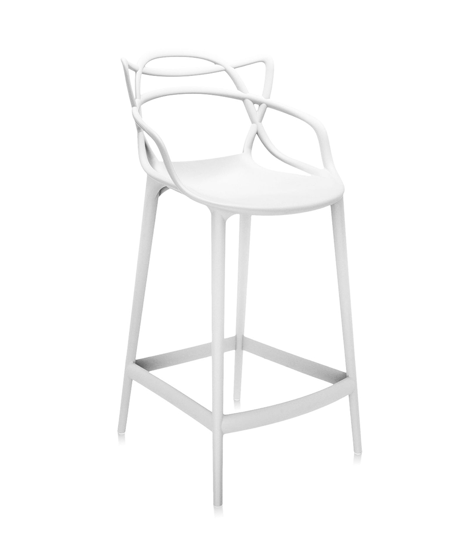 Kartell Tabouret Masters Stool H 65 Cm Blanc Polycarbonate Colore