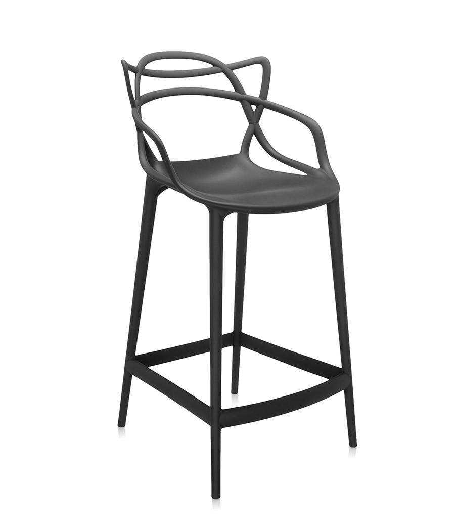 kartell tabouret masters stool h 65 cm noir. Black Bedroom Furniture Sets. Home Design Ideas