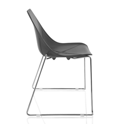 ALMA DESIGN X Chair Collection set de 4 chaises X SLED