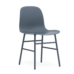 NORMANN COPENHAGEN set of 2 chairs FORM CHAIR with painted steel base