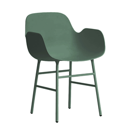 NORMANN COPENHAGEN FORM ARMCHAIR with painted steel base