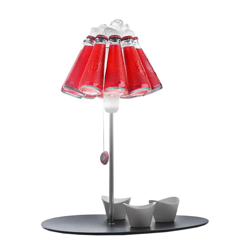 INGO MAURER lampe de table CAMPARI BAR (230V - Métal, plastique, verre)