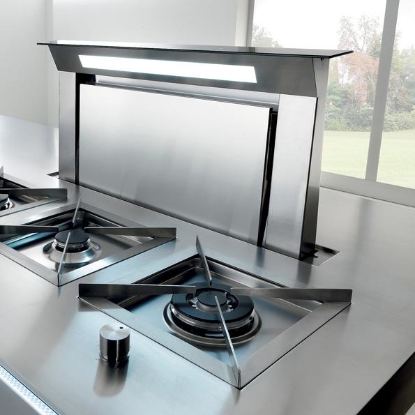 falmec hotte plan de travail filtrante downdraft acier inox 120 cm. Black Bedroom Furniture Sets. Home Design Ideas