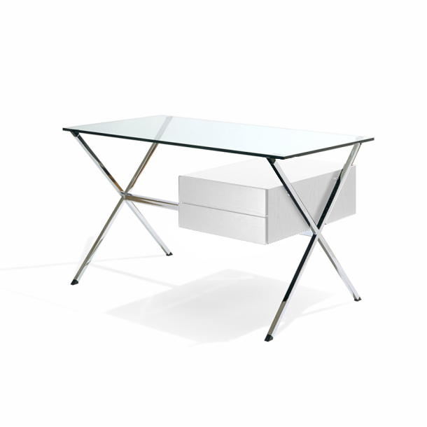 KNOLL bureau avec des tiroirs FRANCO ALBINI Commode laque blanc