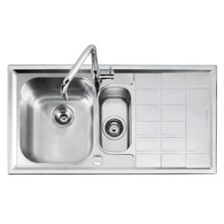 BARAZZA sink with 1 bowl and a half + right drainer B_LEVEL 1LLV100/D