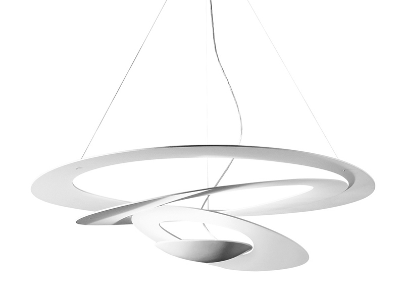 Artemide Suspension Lamp Pirce White Led Aluminum Myareadesign Com