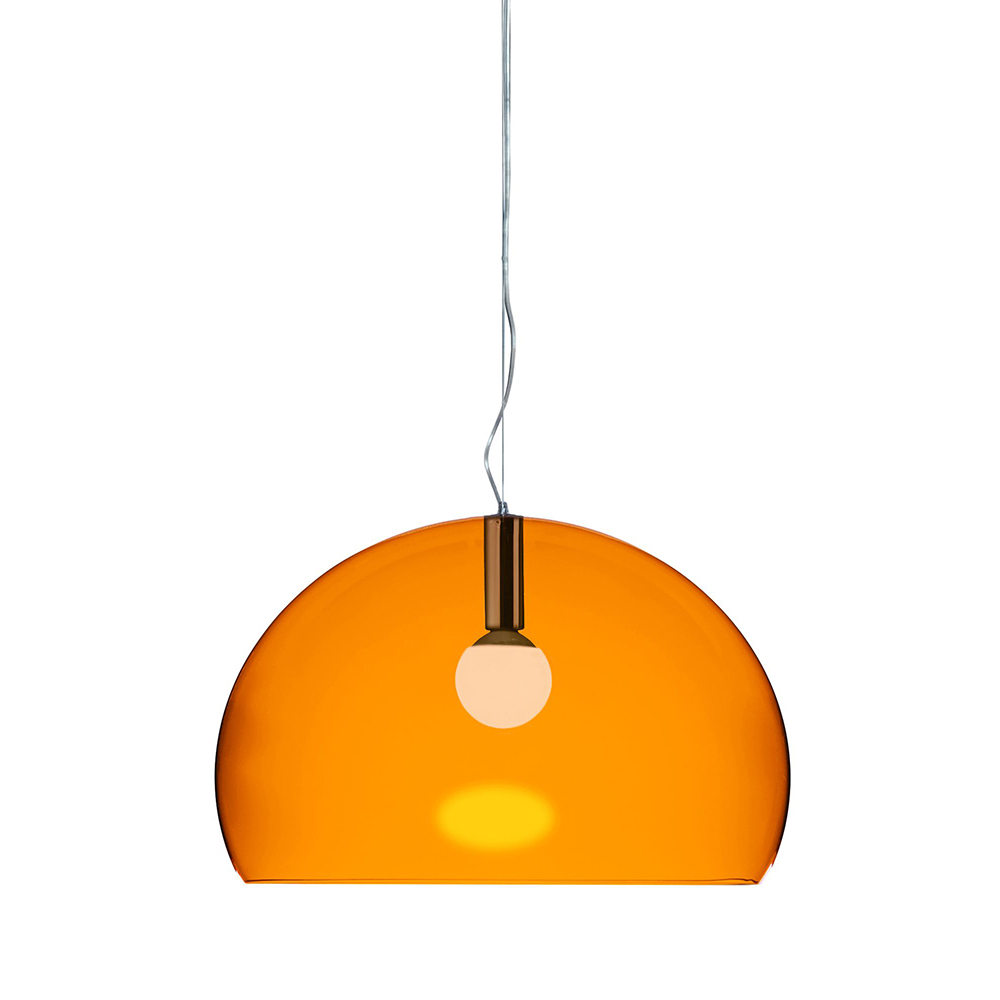 kartell lampe suspension big fl y fly orange pmma transparent. Black Bedroom Furniture Sets. Home Design Ideas