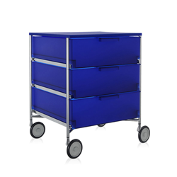 KARTELL cabinet with wheels and 3 drawers MOBIL