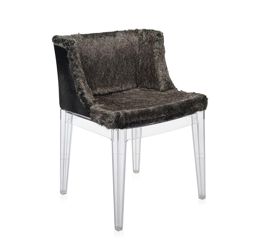 kartell fauteuil mademoiselle kravitz fur python structure transparente polycarbonate. Black Bedroom Furniture Sets. Home Design Ideas